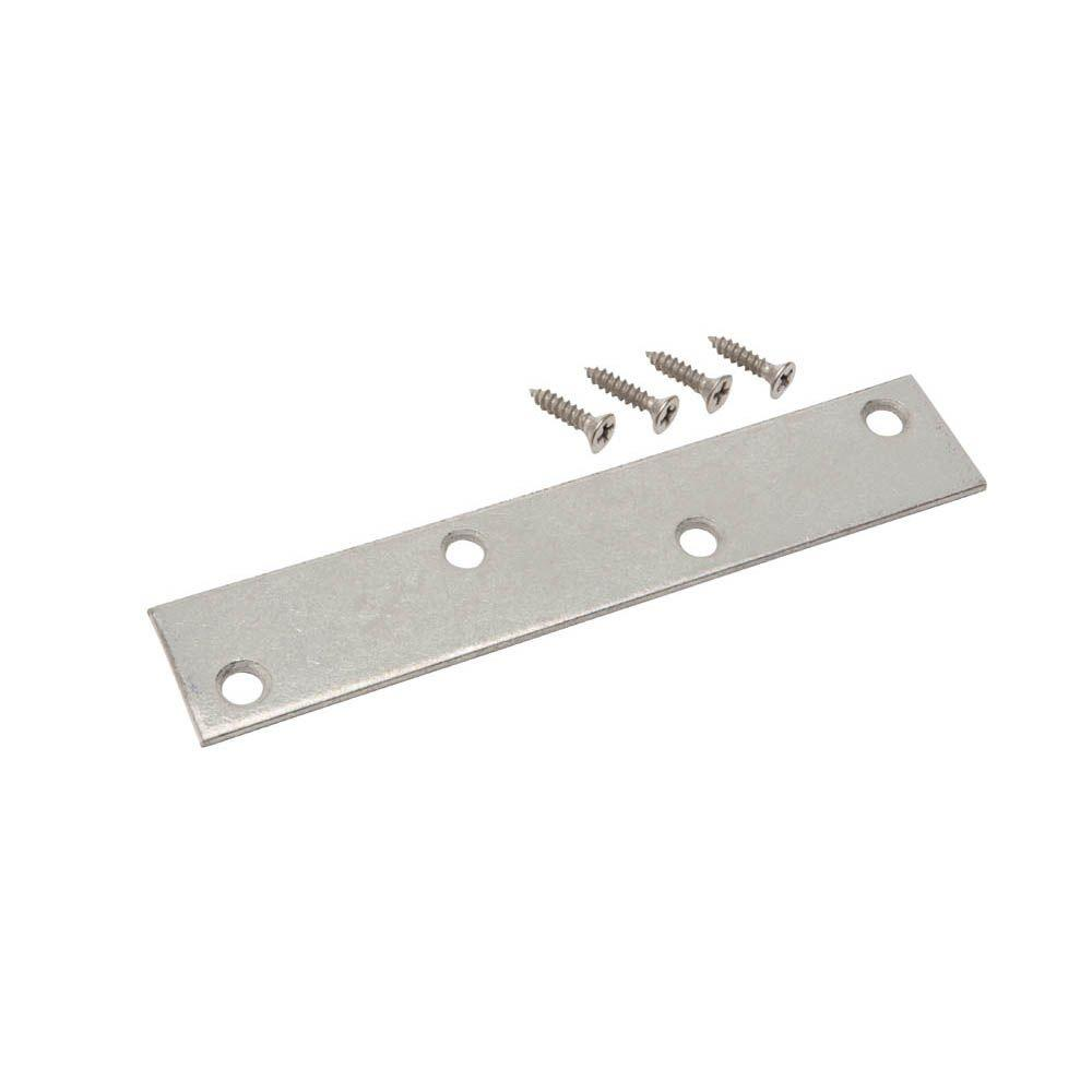 6 in. Galvanized Mending Plate (2-Pack)