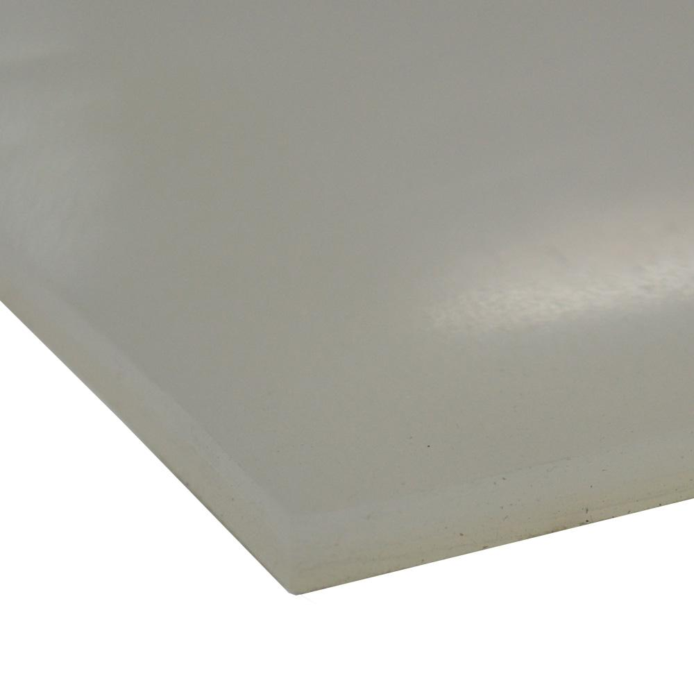 Silicone 1/16 in. x 24 in. x 12 in. Translucent Commercial Grade 60A Rubber Sheet