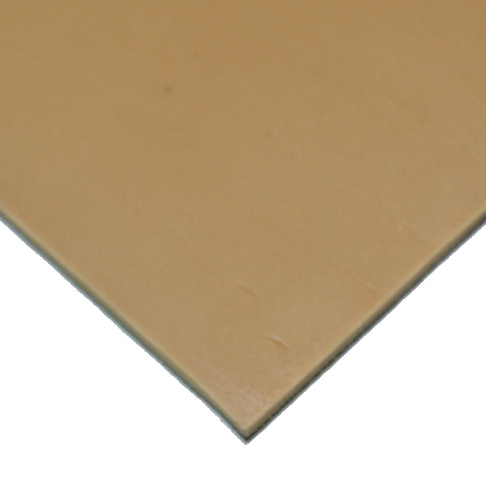Pure Gum Rubber 3/16 in. x 36 in. x 144 in. Tan Commerical Grade 40A Rubber Sheet