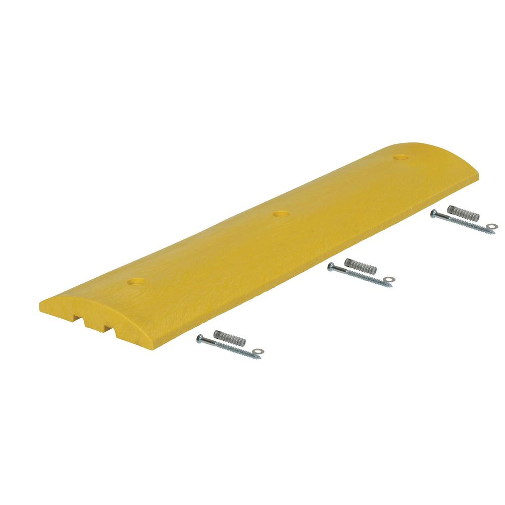 48 in. x 12 in. x 2.25 in. Plastic Speed Bump with Concrete Hardware