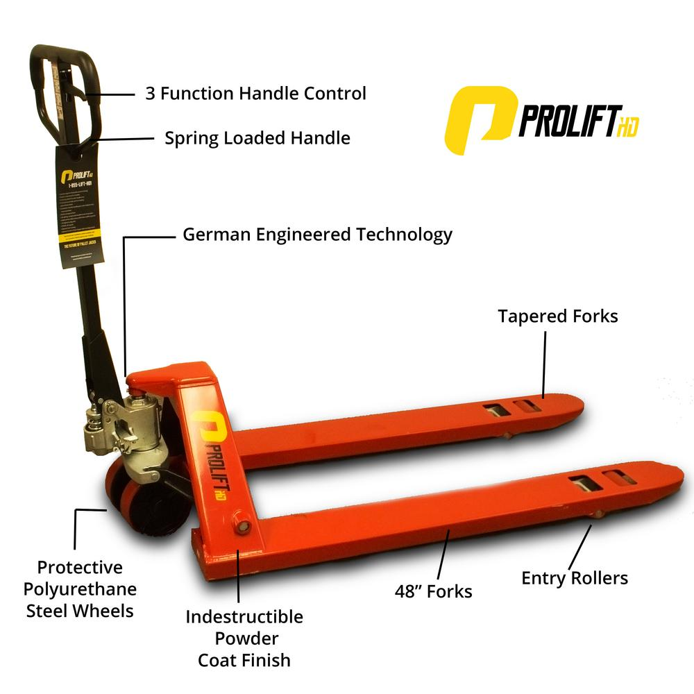 ProliftHD Truckers Choice Pallet Jack 5500 lbs. Heavy-Duty Industrial Pallet Truck with Stopper and Holder Attached