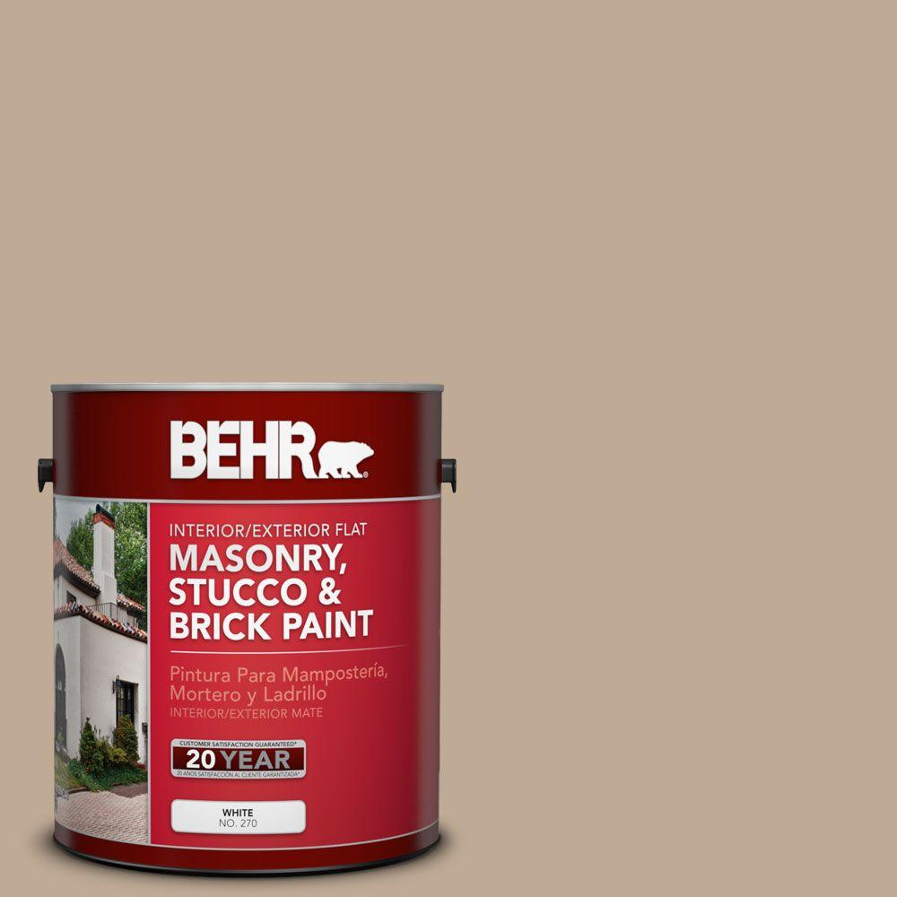 1 gal. #MS-23 Sequoia Flat Interior/Exterior Masonry, Stucco and Brick Paint