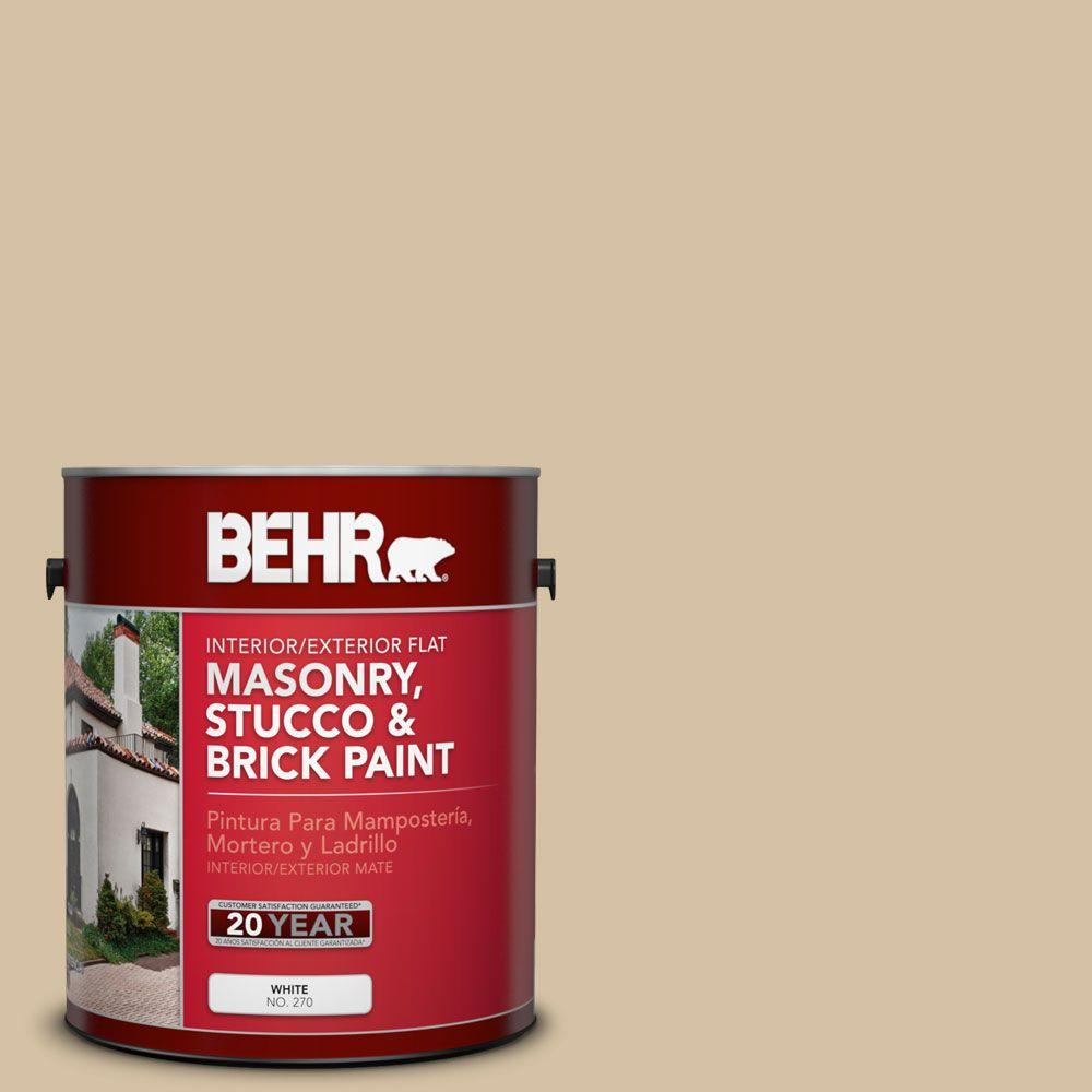 1 gal. #MS-22 Dune Flat Interior/Exterior Masonry, Stucco and Brick Paint