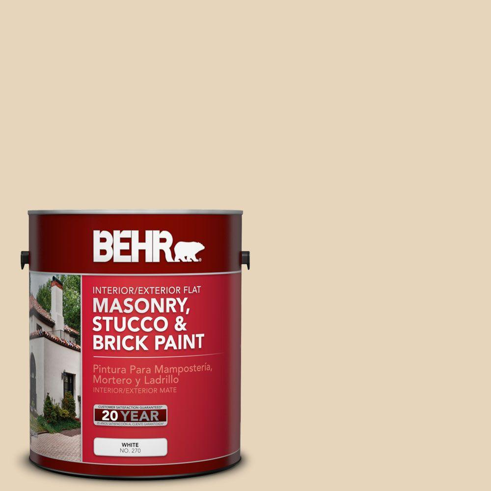 1-gal. #MS-20 Hacienda Flat Interior/Exterior Masonry, Stucco and Brick Paint