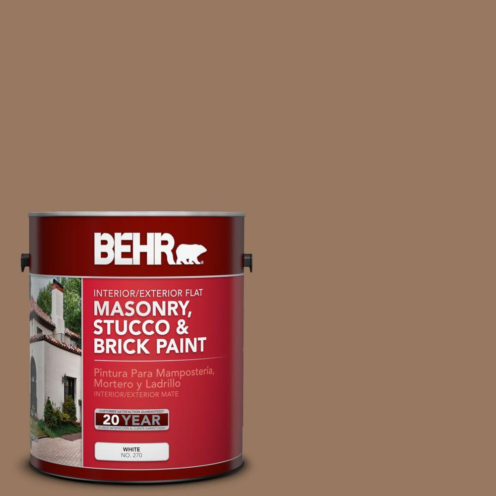 1 gal. #MS-18 Clay Brown Flat Interior/Exterior Masonry, Stucco and Brick Paint