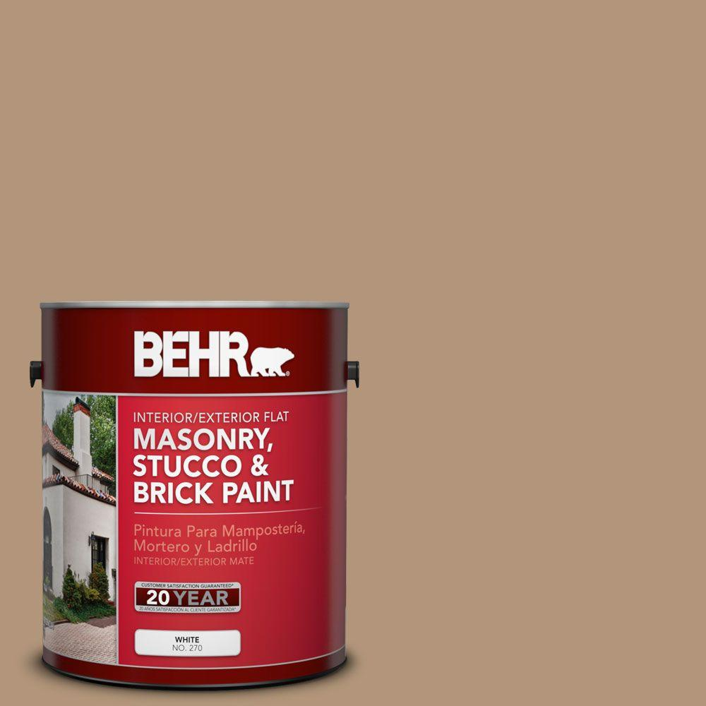 1 gal. #MS-17 Tierra Flat Interior/Exterior Masonry, Stucco and Brick Paint
