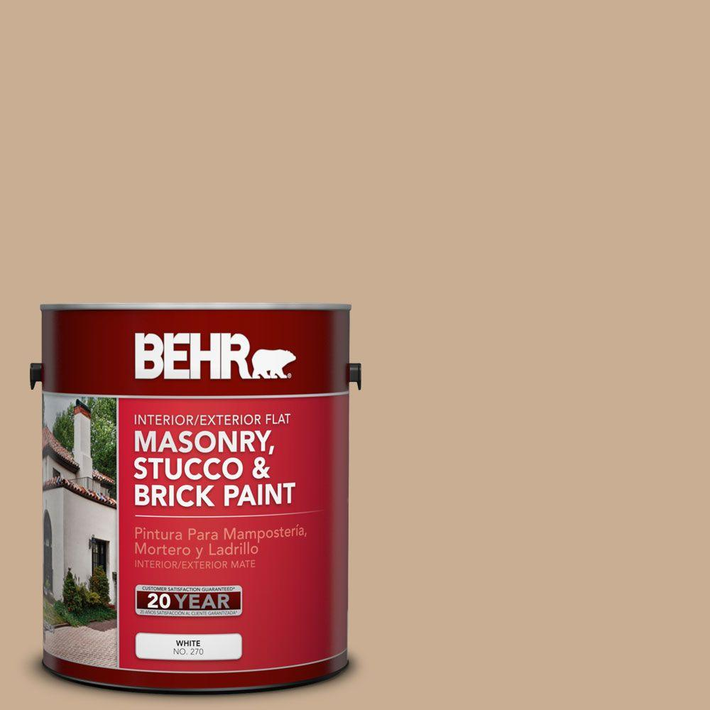 1 gal. #MS-16 Indian Cloth Flat Interior/Exterior Masonry, Stucco and Brick Paint